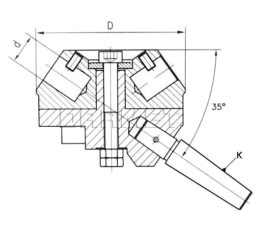 Tailstock turret F3-16 (DM-138)