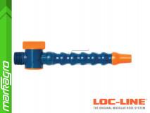 """Chladící hadice s kruhovou tryskou Ø 5/8"""" (~15,9 mm) s vnějším závitem NPT 3/4"""" s ventilem, délka 400 mm - LOC-LINE (P2401Z)"""