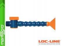 """Chladící hadice s plochou tryskou 3"""" (~76,2 mm) s vnějším závitem NPT 3/4"""" s ventilem, délka 400 mm - LOC-LINE (P2403Z)"""