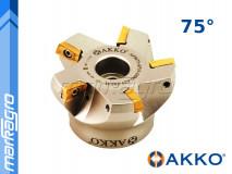 Fréza s VBD APKT - držák, ⌀ 100 mm, čelní válcová nástrčná 5-břitá - AKKO (AFM75-AP16-D100-A32-Z06-H)