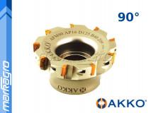 Fréza s VBD APKT - držák, ⌀ 100 mm, čelní válcová nástrčná 9-břitá - AKKO (AFM90-AP10-D100-A32-Z09-H)