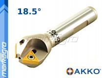 Fréza s VBD TCMT ⌀ 30 mm, čelní stopková pro srážení hran 2-břitá - AKKO (ACM18,5-TC16-D21,3X30-W20-L100-Z02)