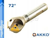 Fréza s VBD TCMT ⌀ 42 mm, čelní stopková pro srážení hran 3-břitá - AKKO (ACM72-TC16-D14X42-W20-L100-Z03)