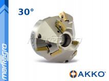 Fréza s VBD APKT ⌀ 87 mm, čelní nástrčná pro srážení hran 6-břitá - AKKO (AHM30-AP16-D35X87-A27-Z0306-H)