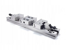 Ocelový přesný strojní svěrák podvojný 100 mm - FPZD100/2x90