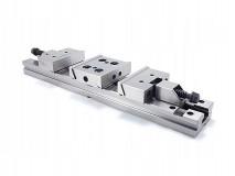 Přesný ocelový strojní svěrák podvojný 125 mm - FPZD125/2x100