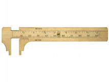 Malé posuvné měřítko z mosazi 100 mm - LIMIT (2654-0203)