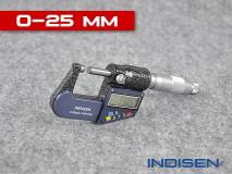 Mikrometr pro měření vnějších průměrů 0-25MM - INDISEN (2311-0250)