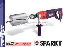 Korunková dvourychlostní vrtačka s příklepem BBK 1100E HD Professional SPARKY - sada