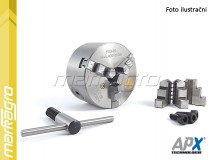 Soustružnické tříčelisťové sklíčidlo samocentrující, litinové - 160 mm (APX3204)