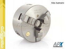 Soustružnické tříčelisťové sklíčidlo samocentrující, ocelové - 160 mm (APX3504)