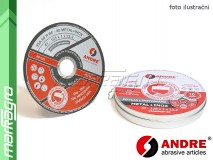Sada 10 ks řezných kotoučů plochých - 125 mm x 1 mm x 22,2 mm, PRO-LINE verze METAL+INOX, TYP 41 - ANDRE (010294)