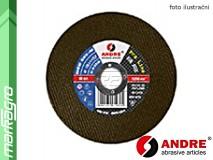Řezný kotouč plochý - 125 mm x 1 mm x 22,2 mm, PRO-LINE verze METAL+INOX (malá etiketa), TYP 41 - ANDRE (010180)