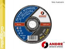 Řezný kotouč plochý - 115 mm x 2,5 mm x 22,2 mm, PRO-LINE verze STANDARD, TYP 41 - ANDRE (020009)