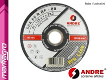 Řezný kotouč plochý - 125 mm x 1 mm x 22,2 mm, PRO-LINE verze ALUMINIUM, TYP 41 - ANDRE (010024)