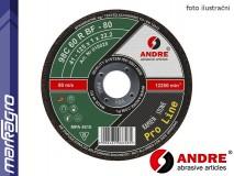 Řezný kotouč plochý - 115 mm x 2,5 mm x 22,2 mm, PRO-LINE verze STONE, TYP 41 - ANDRE (020011)