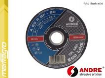 Řezný kotouč plochý - 115 mm x 1 mm x 22,2 mm, ECO-LINE, TYP 41 - ANDRE (010165)