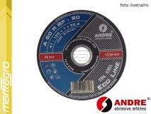 Řezný kotouč plochý - 125 mm x 1 mm x 22,2 mm, ECO-LINE, TYP 41 - ANDRE (010167)