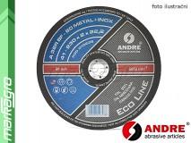 Řezný kotouč plochý - 125 mm x 1,6 mm x 22,2 mm, ECO-LINE verze METAL+INOX, TYP 41 - ANDRE (010238)