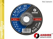 Řezný kotouč vypouklý - 115 mm x 3 mm x 22,2 mm, ECO-LINE, TYP 42 - ANDRE (020911)