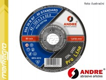 Řezný kotouč vypouklý - 115 mm x 2,5 mm x 22,2 mm, PRO-LINE verze STANDARD, TYP 42 - ANDRE (020092)