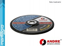 Řezný kotouč vypouklý - 115 mm x 2,5 mm x 22,2 mm, PRO-LINE verze EXTRA, TYP 42 - ANDRE (020093)