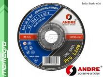 Řezný kotouč vypouklý - 125 mm x 0,8 mm x 22,2 mm, PRO-LINE verze METAL+INOX, TYP 42 - ANDRE (010003)