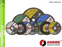 Řezný kotouč vypouklý - 125 mm x 0,8 mm x 22,2 mm, PRO-LINE verze INOX, TYP 42 - ANDRE (010192)