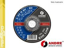 Brusný kotouč vypouklý - 125 mm x 6 mm x 22,2 mm, ECO-LINE, TYP 27 - ANDRE (050063)