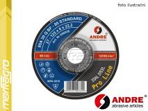 Brusný kotouč vypouklý - 115 mm x 6 mm x 22,2 mm, PRO-LINE verze STANDARD, TYP 27 - ANDRE (050014)