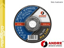 Brusný kotouč vypouklý - 180 mm x 6 mm x 22,2 mm, PRO-LINE verze STANDARD, TYP 27 - ANDRE (050080)