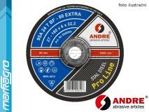 Brusný kotouč vypouklý - 125 mm x 8 mm x 22,2 mm, PRO-LINE verze EXTRA, TYP 27 - ANDRE (050052)