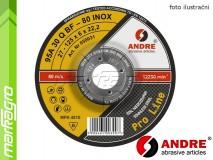 Brusný kotouč vypouklý - 125 mm x 4 mm x 22,2 mm, PRO-LINE verze INOX, TYP 27 - ANDRE (050027)