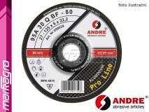 Brusný kotouč vypouklý - 125 mm x 6 mm x 22,2 mm, PRO-LINE verze ALUMINIUM, TYP 27 - ANDRE (050200)