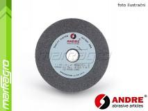 Brusný kotouč plochý - 125 mm x 20 mm x 20 mm, s keramickým pojivem, TYP 1 - ANDRE (510400)