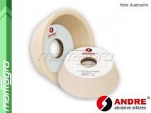 Brusný kotouč miskovitý - 125/96 mm x 40 mm x 32 mm, s keramickým pojivem, TYP 11 - ANDRE (520057)