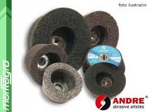 Brusný kotouč miskovitý se závitovou vložkou - 110/90 mm x 55 mm x M14, s pryskyřičným pojivem, TYP 1112 - ANDRE (130002)