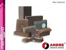 Brusné segmenty lichoběžníkové - 100/85 mm x 35 mm x 150 mm, s pryskyřičným pojivem, TYP 3109 - ANDRE (140200)
