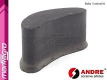 Brusný segment ledvinový - 55 mm x 75 mm x 150 mm, s pryskyřičným pojivem, TYP 3110 - ANDRE (140130)
