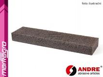 Brusný segment obdélníkový - 50 mm x 20 mm x 200 mm, s pryskyřičným pojivem, TYP 9010 - ANDRE (140008)