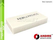 Brusný segment obdélníkový - 80 mm x 25 mm x 150 mm, s keramickým pojivem, TYP 3101 - ANDRE (540093)
