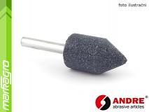 Brusné tělísko válcové-kuželové - 25 mm x 40 mm x 6 mm, s keramickým pojivem, TYP 5211 - ANDRE (550766)
