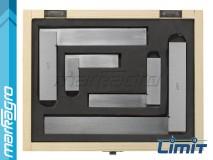 Sada 4 ks úhelníků kontrolních dílenských v rozměrech 75x50, 100x70, 150x100, 200x130 mm - LIMIT (16246-0901)