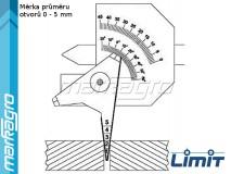 Kombinovaná měrka svarů 0 - 10 mm - LIMIT (9754-1007)