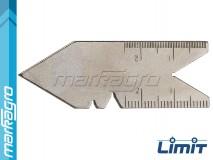 Měrka na závity Whitworthovy 55° - LIMIT (2575-1009)