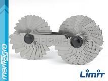Měrky na závity M/UNC 60°, 55 šablon - LIMIT (2580-1200)