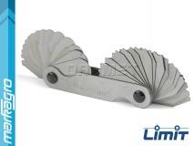 Měrky rádiusové 1 - 7 mm, 17 + 17 šablon - LIMIT (2584-1008)