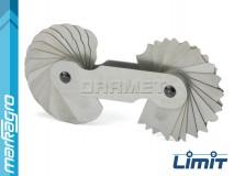 Měrky rádiusů 7,5 - 15 mm, 16 + 16 šablon - LIMIT (2584-1107)