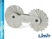 Měrky rádiusů 15,5 - 25 mm, 15 + 15 šablon - LIMIT (2584-1206)