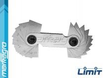 Měrky úhlů 1 - 45°, 18 šablon - LIMIT (2586-1006)
